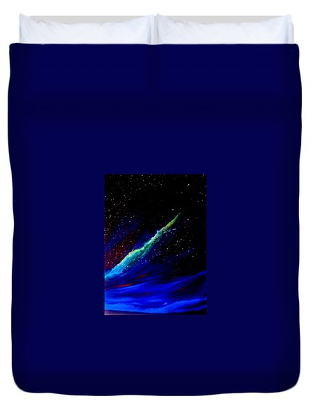 Duvet Cover featuring the painting Starry Night by Scott Wilmot