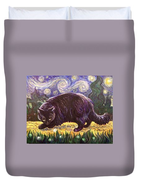 Starry Night Stroll Duvet Cover