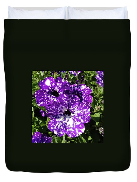 Starry Petunias... Duvet Cover