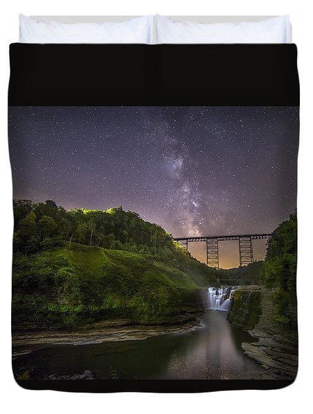 Starry Sky At Letchworth Duvet Cover