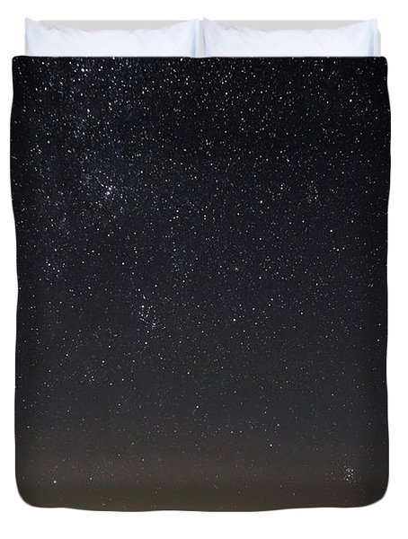 Starry Sky Over Virginia Farm Duvet Cover