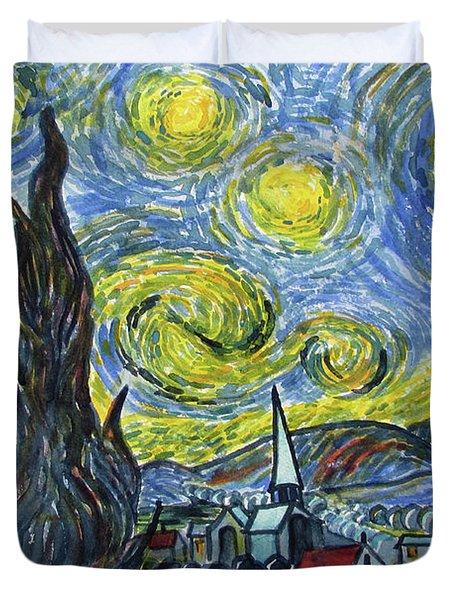 Starry, Starry Night Duvet Cover