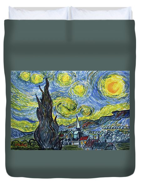 Starry, Starry Night Duvet Cover