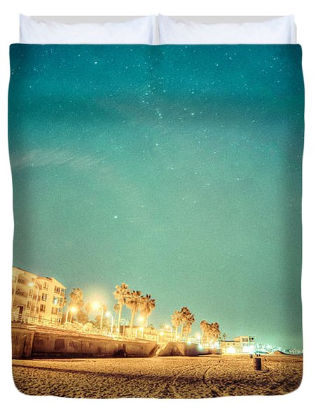 Starry Starry Pacific Beach Duvet Cover