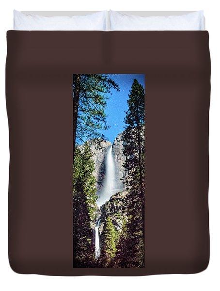 Starry Yosemite Falls Duvet Cover