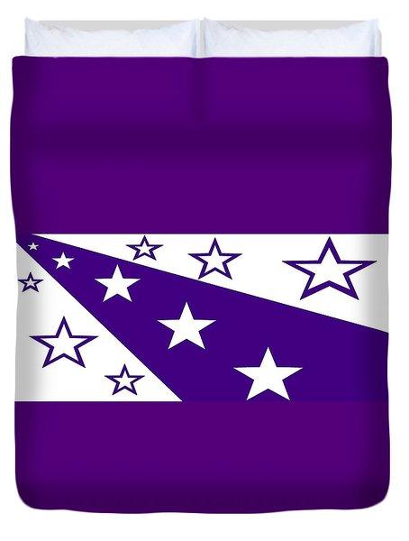 'stars 21' Or 'purple Stars' Duvet Cover by Linda Velasquez