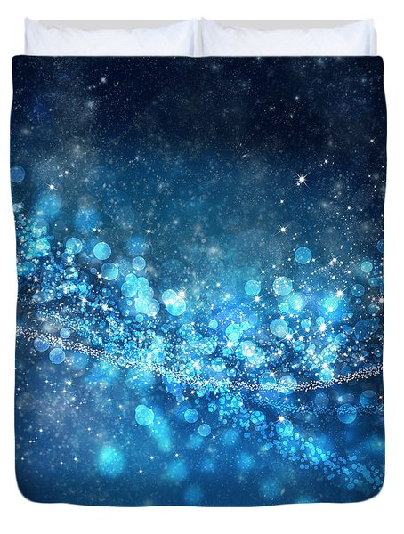 Stars And Bokeh Duvet Cover