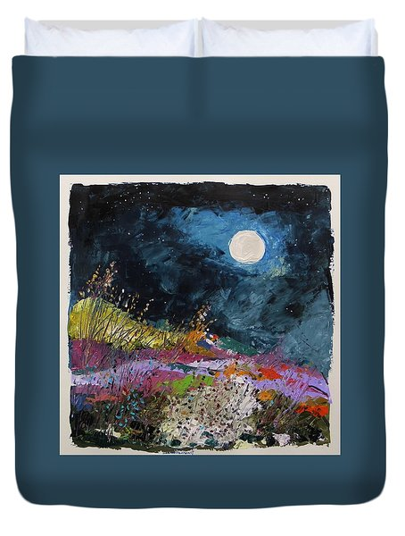 Stars And Moon Duvet Cover by John Williams