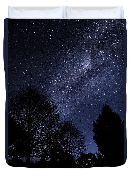 Stars And Trees Duvet Cover
