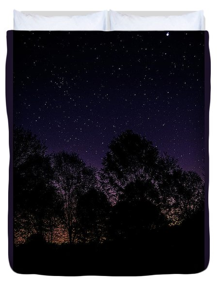 Duvet Cover featuring the photograph Stars by Brian Jones