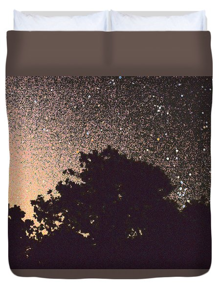 Stars Of La Vernia Duvet Cover by Carolina Liechtenstein