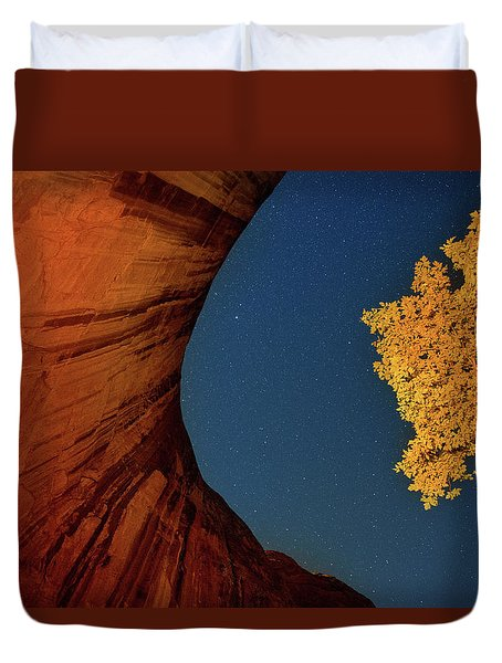 Stars Over Canyon Duvet Cover
