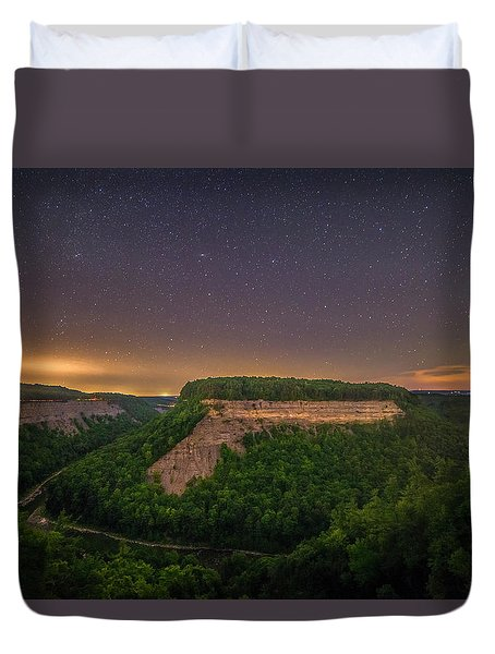 Duvet Cover featuring the photograph Stars Over Great Bend by Mark Papke