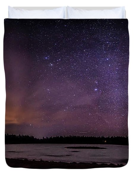 Stars Over Lake Eaton Duvet Cover