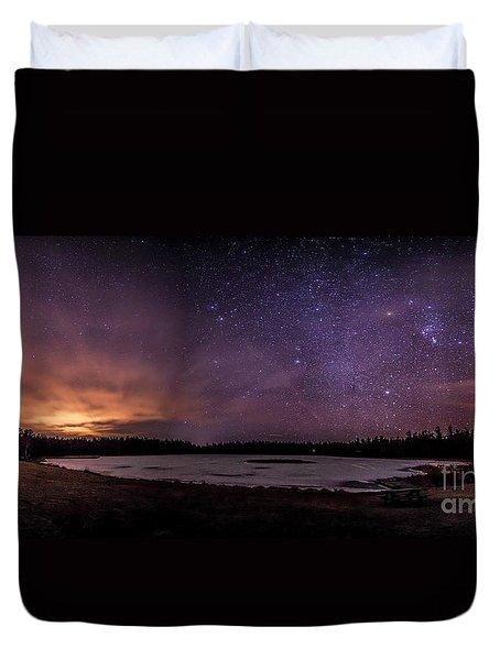 Stars Over Lake Eaton Duvet Cover
