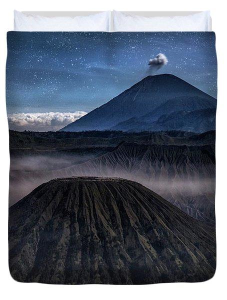 stars over Mount Bromo - Java Duvet Cover