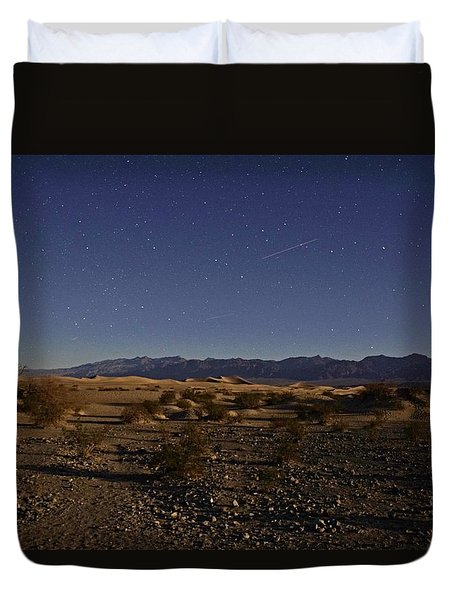 Stars Over The Mesquite Dunes Duvet Cover