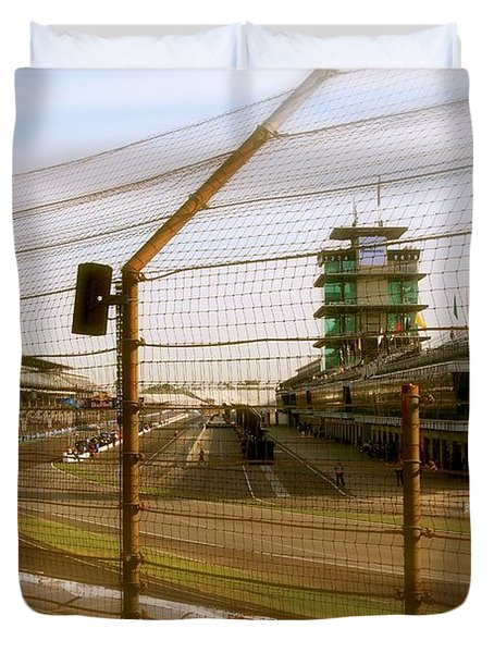 Start Finish Indianapolis Motor Speedway Duvet Cover