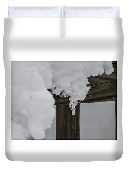 Duvet Cover featuring the photograph Start Of The Avalanche by Deborah Smolinske
