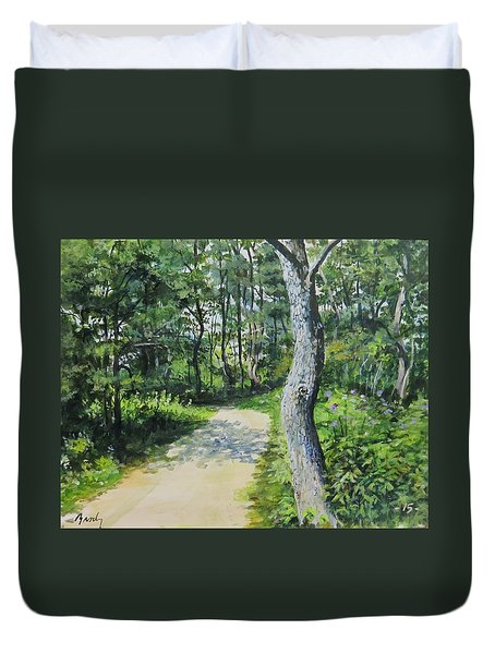 Start Of The Trail Duvet Cover