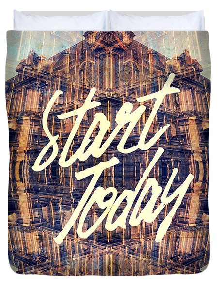 Start Today Classical French Architecture Paris France Duvet Cover