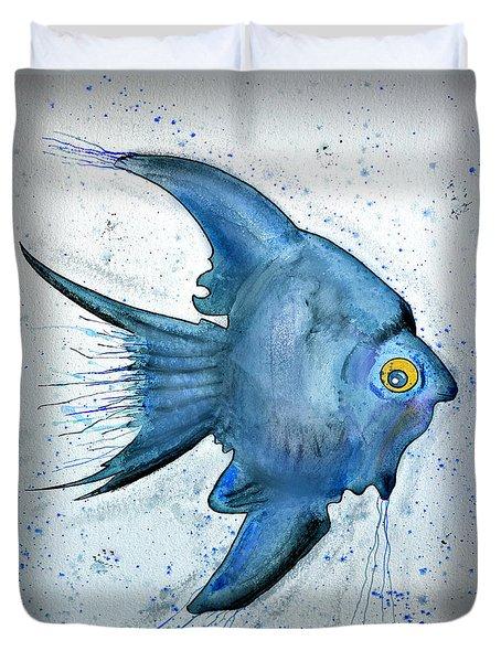 Startled Fish Duvet Cover by Walt Foegelle