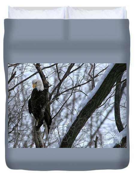 Starved Rock Eagle Duvet Cover