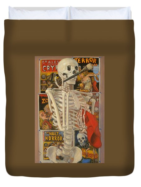 Duvet Cover featuring the painting Starving Artist by Donelli  DiMaria