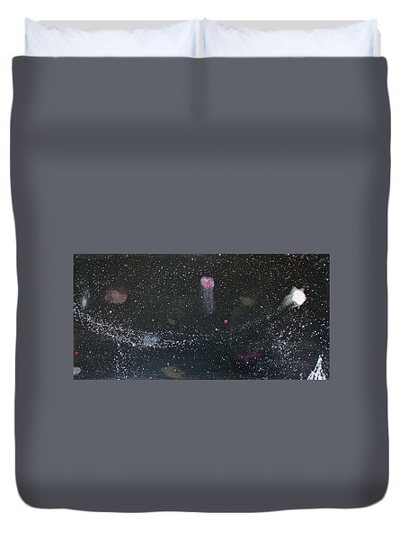Duvet Cover featuring the painting Starry Night by Michael Lucarelli