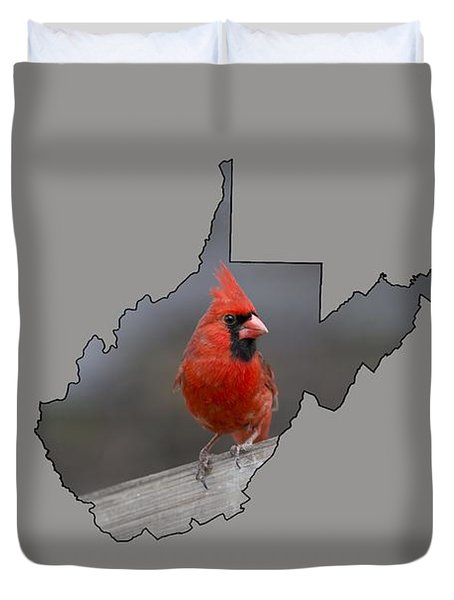 State Bird Of West Virginia Duvet Cover