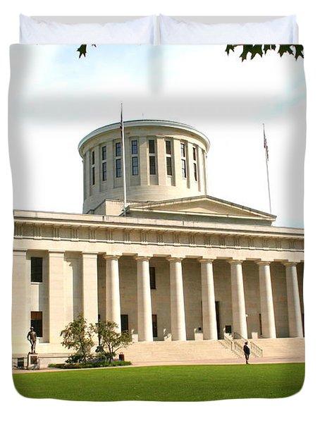 State Capitol Of Ohio Duvet Cover