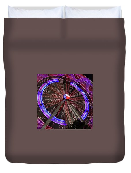State Fair Of Texas Ferris Wheel Duvet Cover