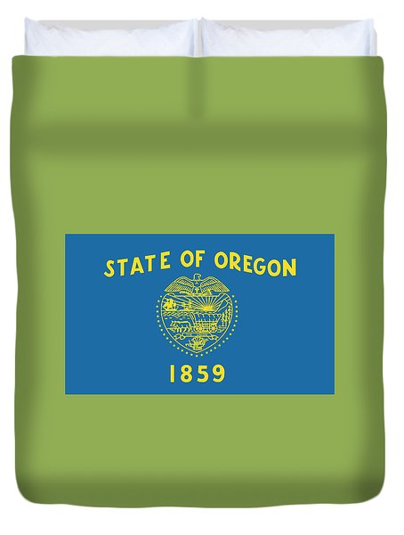 State Flag Of Oregon Duvet Cover by American School