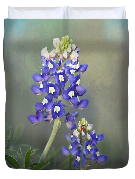 Duvet Cover featuring the photograph State Flower Of Texas by David and Carol Kelly