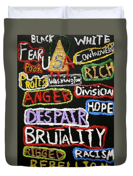 State Of America Duvet Cover