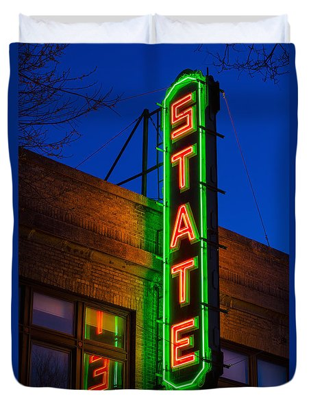 State Theatre - Ithaca Duvet Cover
