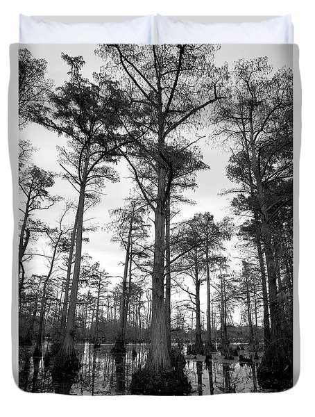 Stately - Cypress Trees Duvet Cover