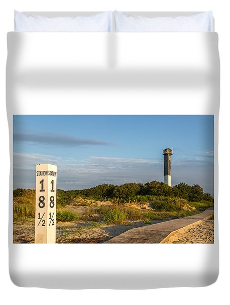 Station 18 1/2 On Sullivan's Island Duvet Cover
