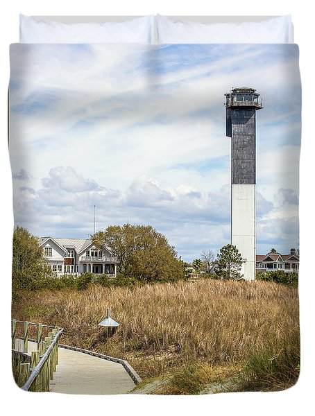 Station 18 On Sullivan's Island, Sc Duvet Cover