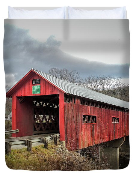 Station Covered Bridge Duvet Cover