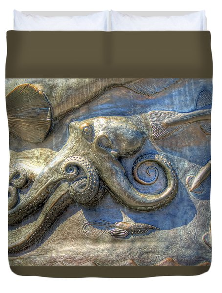 Duvet Cover featuring the photograph Statue Details by Chris Anderson