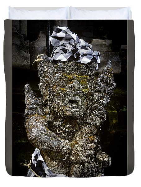 Duvet Cover featuring the photograph Statue Formalwear by T Brian Jones
