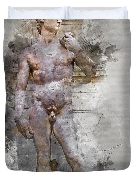 Statue Of David Duvet Cover