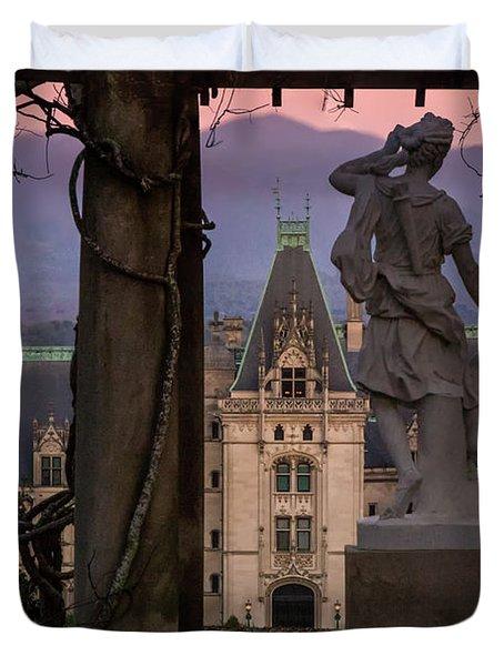 Statue Of Diana Duvet Cover