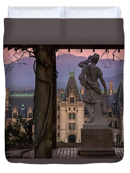 Statue Of Diana Duvet Cover