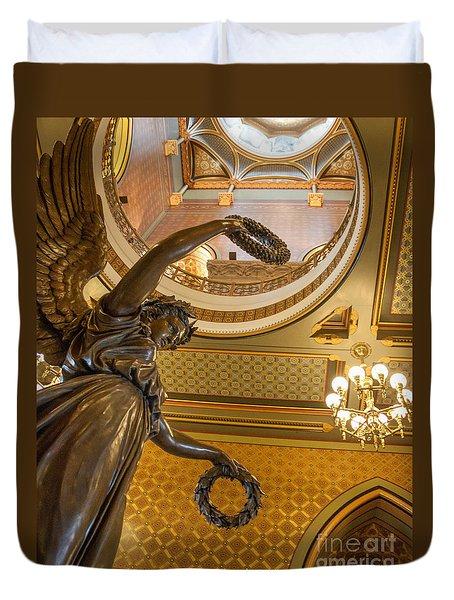 Statue Of Genius Vertical Duvet Cover