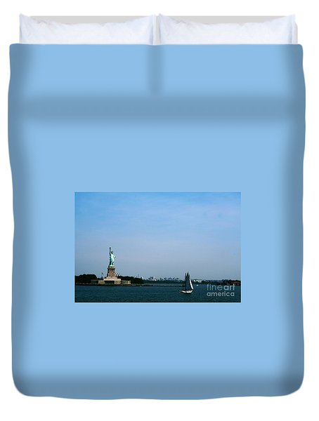 Duvet Cover featuring the photograph Statue Of Liberty by The Art of Alice Terrill