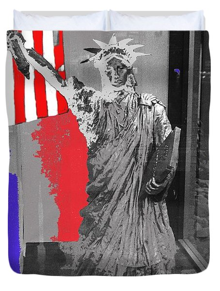 Statue Of Liberty Display El Con Shopping Center Tucson Arizona 1984-2016 Duvet Cover