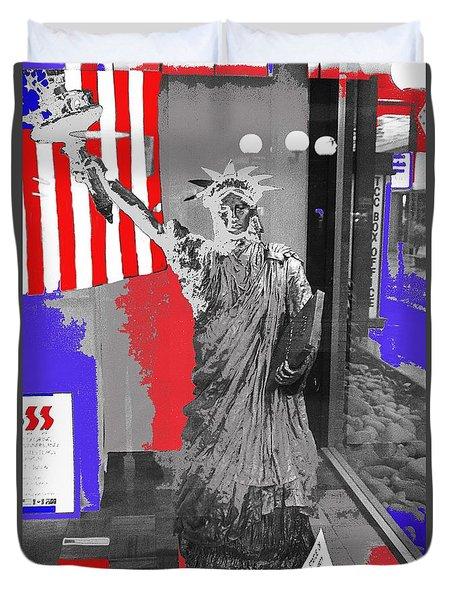 Statue Of Liberty Display El Con Shopping Center Tucson Arizona 1984-2016 Duvet Cover