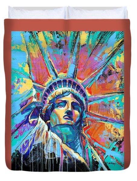 Statue Of Liberty New York Art Usa Duvet Cover